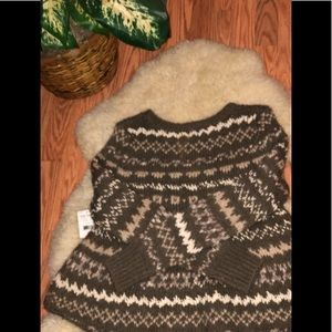 NEW FrEE PeOPLE sweater knit fair isle Christmas S